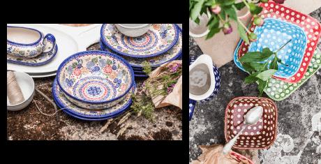 zdobione naczynia ceramiczne